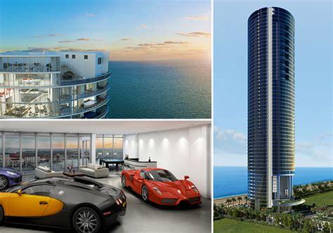 Livingroom Units porsche design penthouse gil dezer luxury car storage