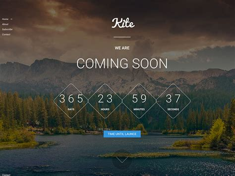 kite free coming soon bootstrap html5 template