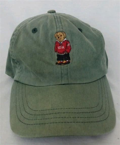Topi Baseball Polo Ralph K 6 Ls mens ralph polo hat polo sport vintage euc green polo ralphlaurenpolo