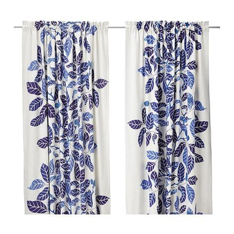 ikea blad curtains frugal with a flourish eight great blue and white accents
