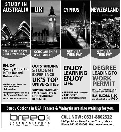 Mba Scholarships In Australia For International Students 2013 by Study In Australia Uk Cyrus New Zealand Breeo