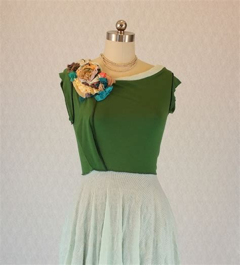 The Handmade Dress - handmade vintaged green garden dress liat azar ליאת עזר