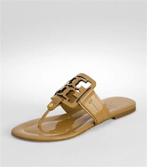 burch miller patent sandal burch patent square miller sandal in brown sand lyst