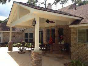 How To Build A Window Awning Covered Patio Traditional Patio Houston By