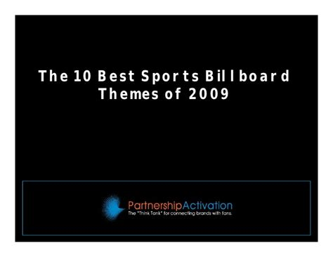 10 Best Version 2009 by 10 Best Sports Billboard Themes Of 2009