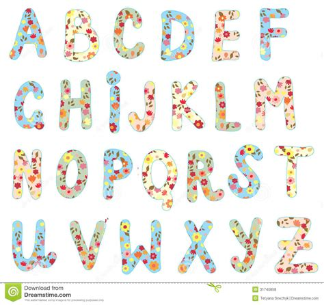 printable alphabet with designs 5 best images of free printable flower letters free