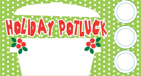 holiday potluck 123 invitations
