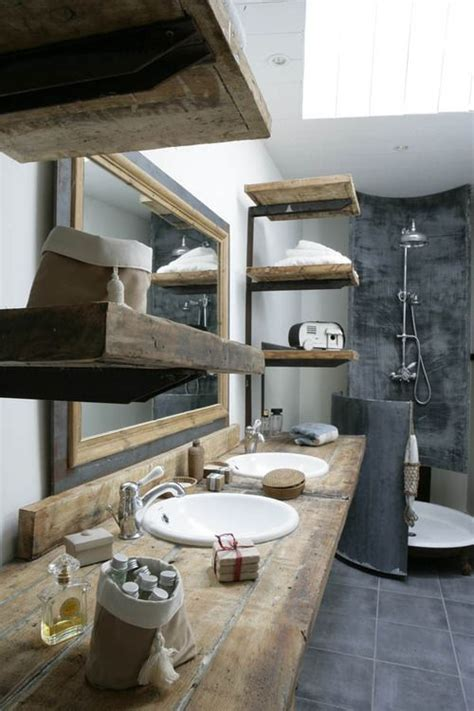rustic bathroom ideas 39 cool rustic bathroom designs digsdigs