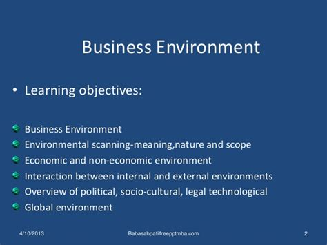 Business Notes For Mba Ppt by Business Environment Ppt International Business Management Mba
