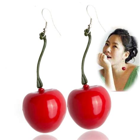 Sale Anting Korea Big Ring Color Earrings Murah earrings sale korean fashion jewelry cherry earrings 1792402 in drop earrings from jewelry