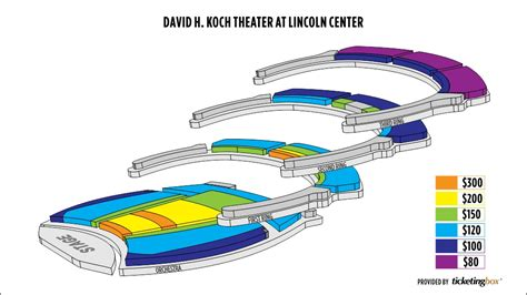 david h koch theater seating chart lincoln center new york seating chart