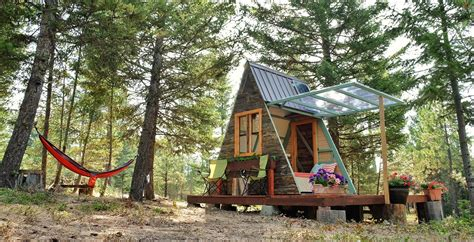 small a frame cabin plans couple builds tiny a frame cabin in three weeks for only