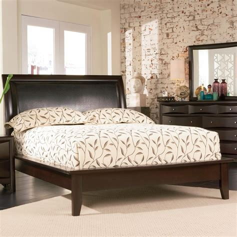 queen size platform bed with headboard queen size platform bed in cappuccino finish with upholstered headboard coaster 200410q