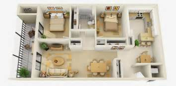 Myers Bedroom Furniture Amazing 3d House Plans With Furniture Details Collection 1
