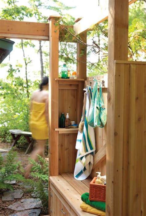 outdoor shower wood plans