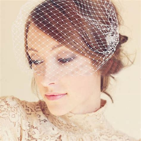 Wedding Hair Clip Veil by Wedding Bridal Veil Hair Clip Bowler Hat Feather