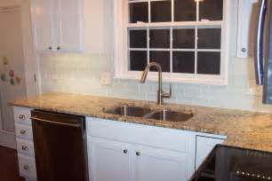 glass subway tile kitchen backsplash glass subway tile projects before after pictures