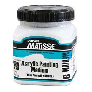 acrylic paint binder matisse acrylic painting binder
