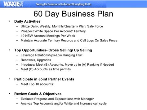 retail sales plan template 30 60 90 business plan