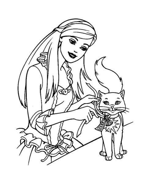 Barbie Princess And Cat Coloring Pages Gianfreda Net   barbie princess and cat coloring pages gianfreda net
