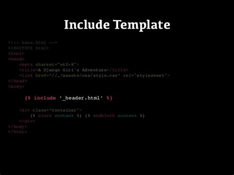django template include django templates