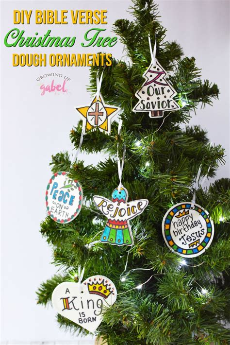 the truth about christmas decorations with bible verses diy scripture verses dough ornaments growing up gabel