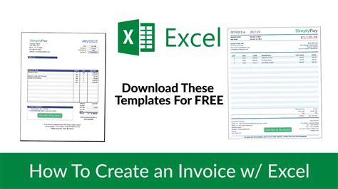 create excel template how to create an invoice in excel free invoice template