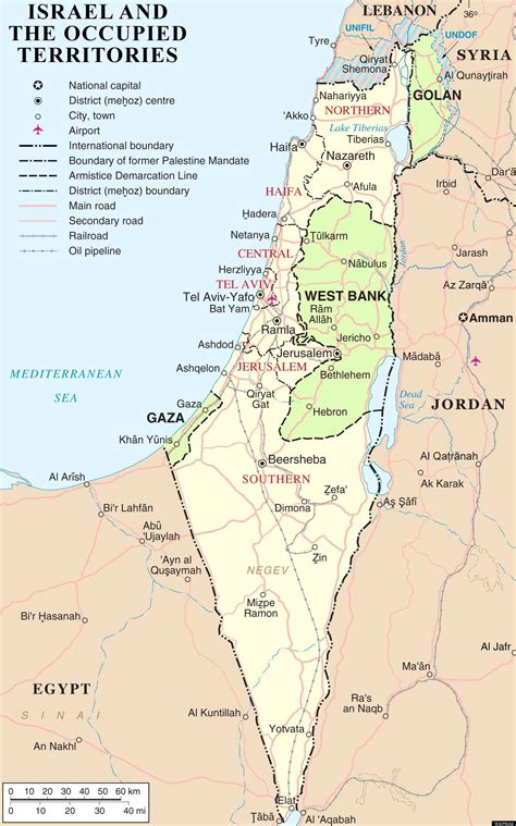 map of israel and palestine israel map the palestinian region s changing borders huffpost