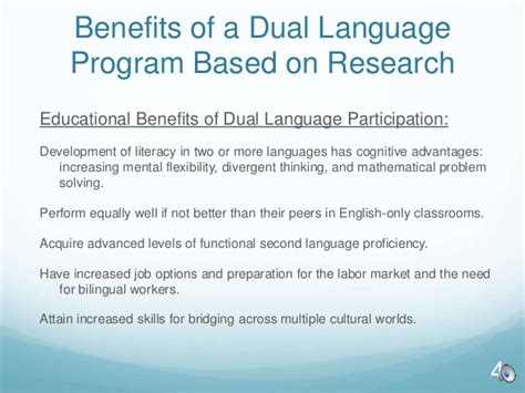 Pros Of Dual Mba Degrees by Immersion Parent Information