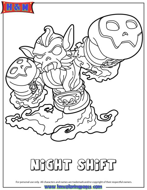 skylanders swap foce colouring pages
