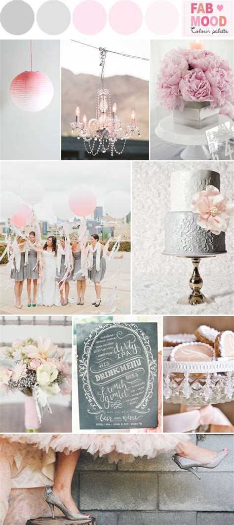 grey pink wedding theme grey pink wedding colors palette ideas grey and pink