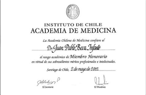 psiquiatra escuela de medicina nombran a dr beca miembro honorario de la academia