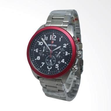 Expedition 6639 Silver Merah 1 jual expedition chronograph tali rantai jam tangan pria