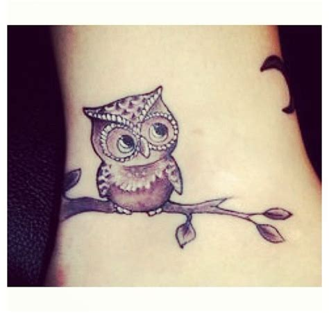 baby owl tattoo owl on a branch tattoos owl