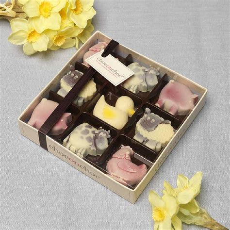 Handmade Chocolate Boxes - handmade chocolate farmyard box by choc on choc