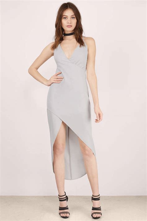 Dress Pesta Midi Dress grey midi dress grey dress high low dress midi dress 12
