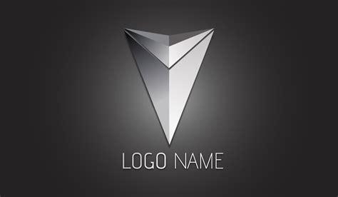 Metalic Design illustrator tutorial 3d logo design metallic arrow