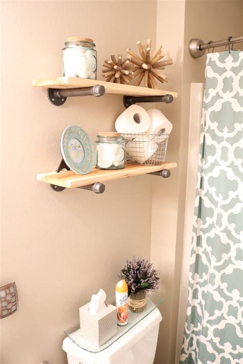 bathroom decor diy rustic industrial bathroom shelves and beach decor
