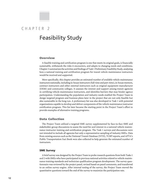 study structure template chapter 2 feasibility study a national and