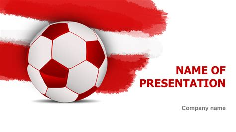 download free austrian soccer ball powerpoint template for