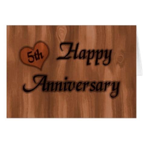 5th wedding anniversary greeting cards zazzle