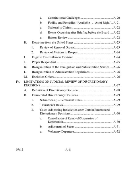 9th Cir Immigration Outline by Immigration Outline Selected Topics 9th Circuit 590 Pages