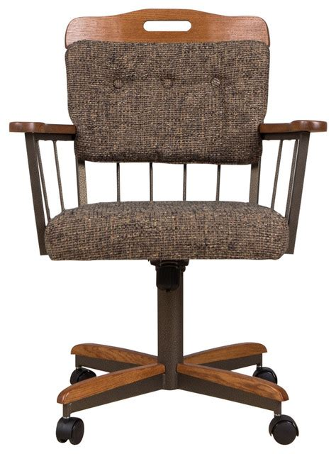 casual dining room caster chair lily transitional