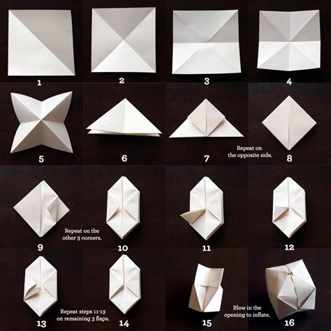 Origami From Square Paper - diy origami cube lights spoon tamago