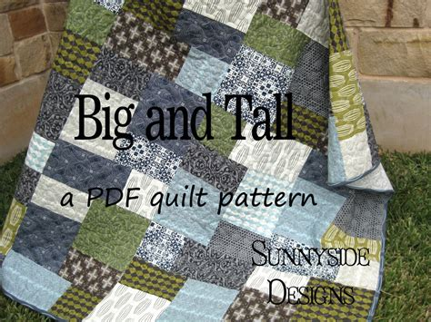 Easy Large Block Quilt Patterns by Big Block Quilt Pattern Big And Quarter Friendly