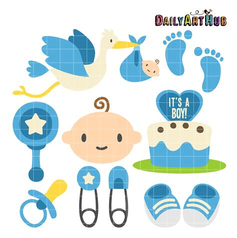 Clipart Baby Shower Boy by Boy Baby Shower Clip Set Daily Hub Free Clip