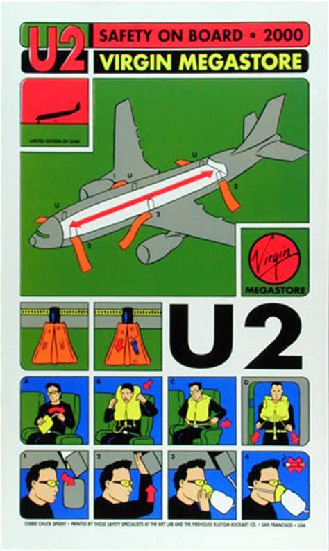 Poster U2 Band M102 chuck sperry firehouse u2 megastore poster