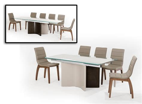 modern extendable dining table xeno modern extendable dining table