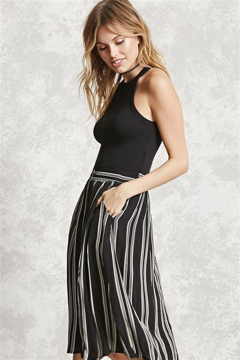 Dress Madona Stripe forever 21 contemporary a woven skirt featuring an allover vertical stripe pattern front
