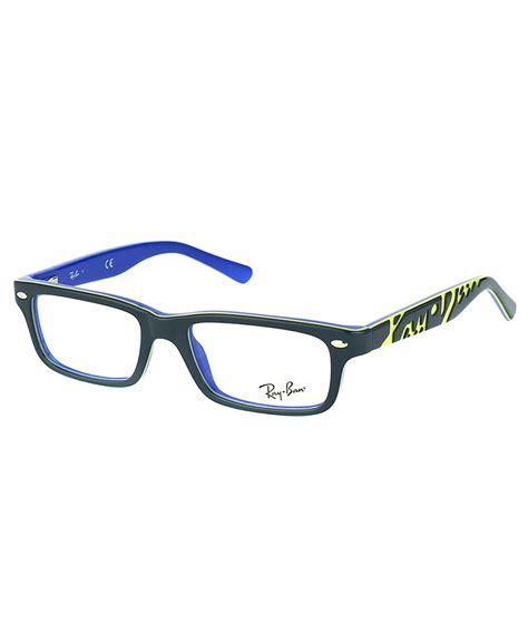 Rayban Elastis Lensa ban rectangle plastic eyeglasses in gray lyst